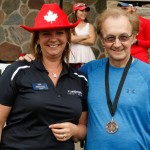 Michele Lennox, Branch Manager FirstOntario Credit Union and David Trotter, Race Co-Organizer